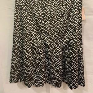 Dress Barn black white polka dot flare skirt Sz 12